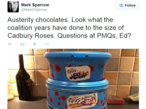 Twitter kicks off over reduced size of Christmas chocolate tins