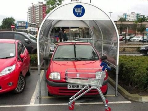 Trolley bay car parker shamed