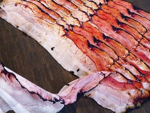 Is this freakishly lifelike bacon silk scarf the weirdest Christmas present on the internet?