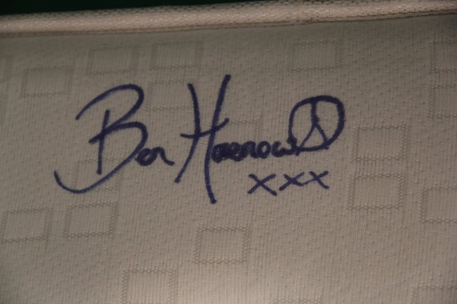 Win X Factor champion Ben Haenow's actual mattress. That he actually slept on…
