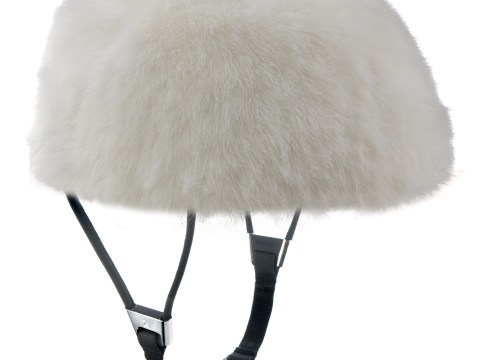 The ultimate cycling chic gift: the faux fur helmet