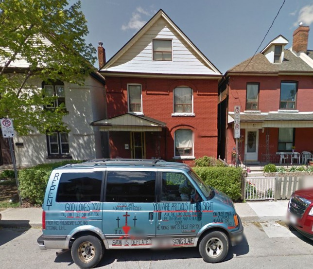 The Wald home in Hamilton, Canada, where Peter Wald's body was kept for six months (Picture: Google Maps)