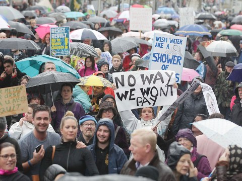 Thousands take to the streets as anger at Irish water charges trends online
