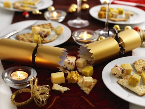 Pull the other one: These Christmas crackers are filled with cubes of real cheese