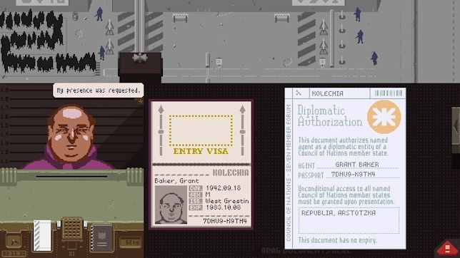Papers, Please (iPad) - being nice is more than your job's worth