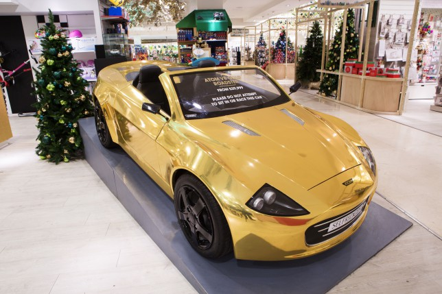 Expensive gold car for kids (Picture: Selfridges)