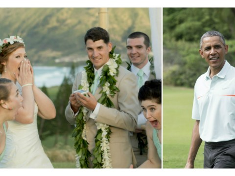 Couple's wedding disrupted by Obama's round of golf