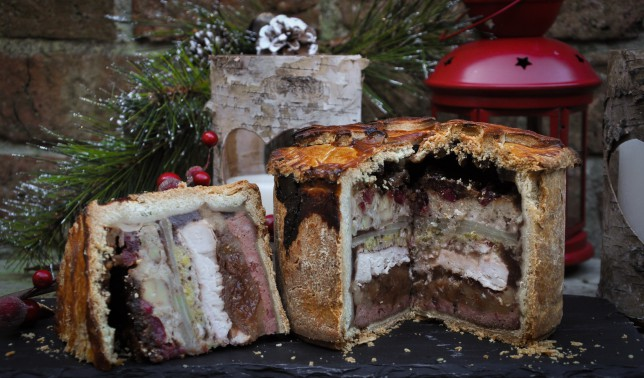 Christmas dinner recipe: a three course Christmas lunch in a pie