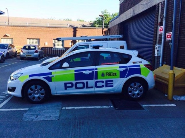 This police car has one tiny, but very real mistake (Picture: UKCopHumour)