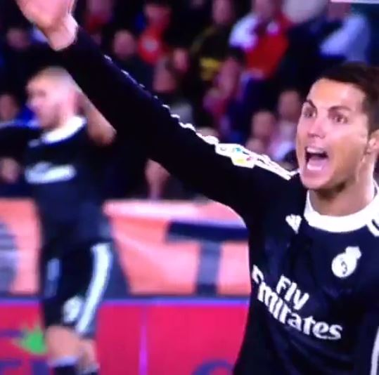 Cristiano Ronaldo appeals for a penalty