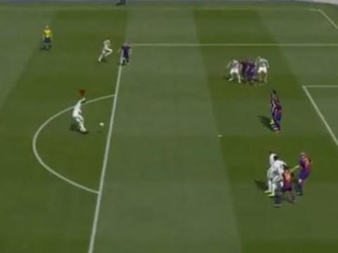 This incredible Cristiano Ronaldo 'rabona' free-kick is definitely the best FIFA goal ever