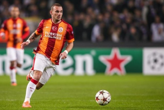 Wesley Sneijder has been linked with an exit from Galatasaray (Picture: Getty)