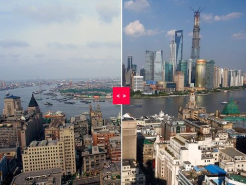 Photos of Shanghai now and then show the city's breathtaking growth