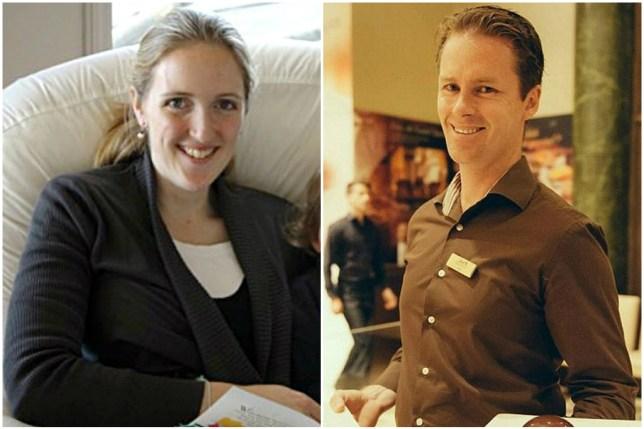 Karen Dawson and Tori Johnson (Picture: AAP/Facebook/Lindt Chocolate Cafe Australia)