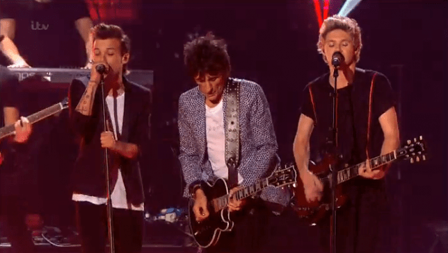 X Factor final 2014: Ronnie Wood with One Direction