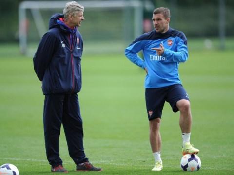 Arsene Wenger denies failing to say goodbye to Lukas Podolski before he made Inter Milan transfer