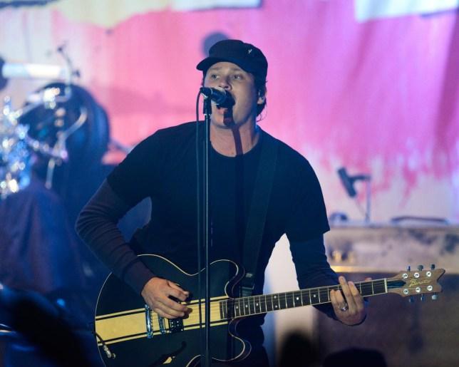 Tom DeLonge of blink - 182 performs at Hollywood Palladium on November 6, 2013 in Hollywood, California. Noel Vasquez/Getty Images