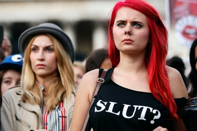 Protesters have taken part in 'slut walks' to voice their anger at treatment of rape victims (Picture: Getty Images)