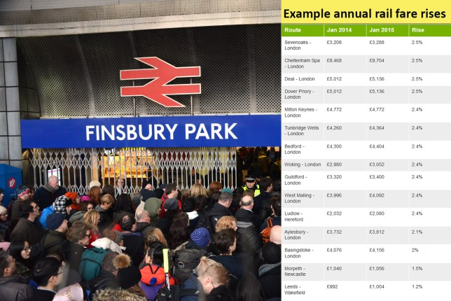 UNITED KINGDOM, London: Finsbury Park station in North London is inundated with crowds on December 27 after passengers were advised to go there instead of King's Cross as engineering works at the major central London station overran. NEWZULU/SEE LI