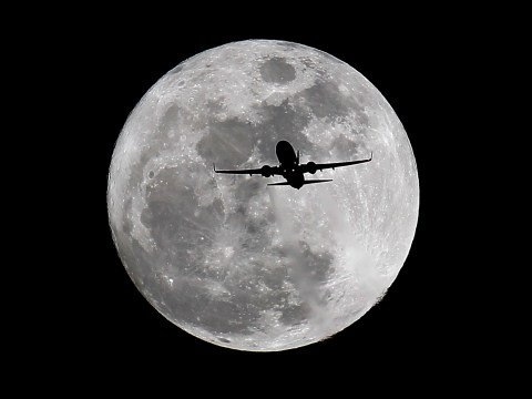 First full moon of the year, also known as Full Wolf Moon, pictured across the globe