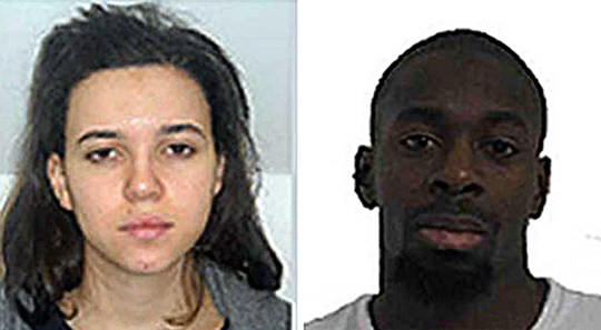 Police are appealing for Hayat and Amedy Coulibaly