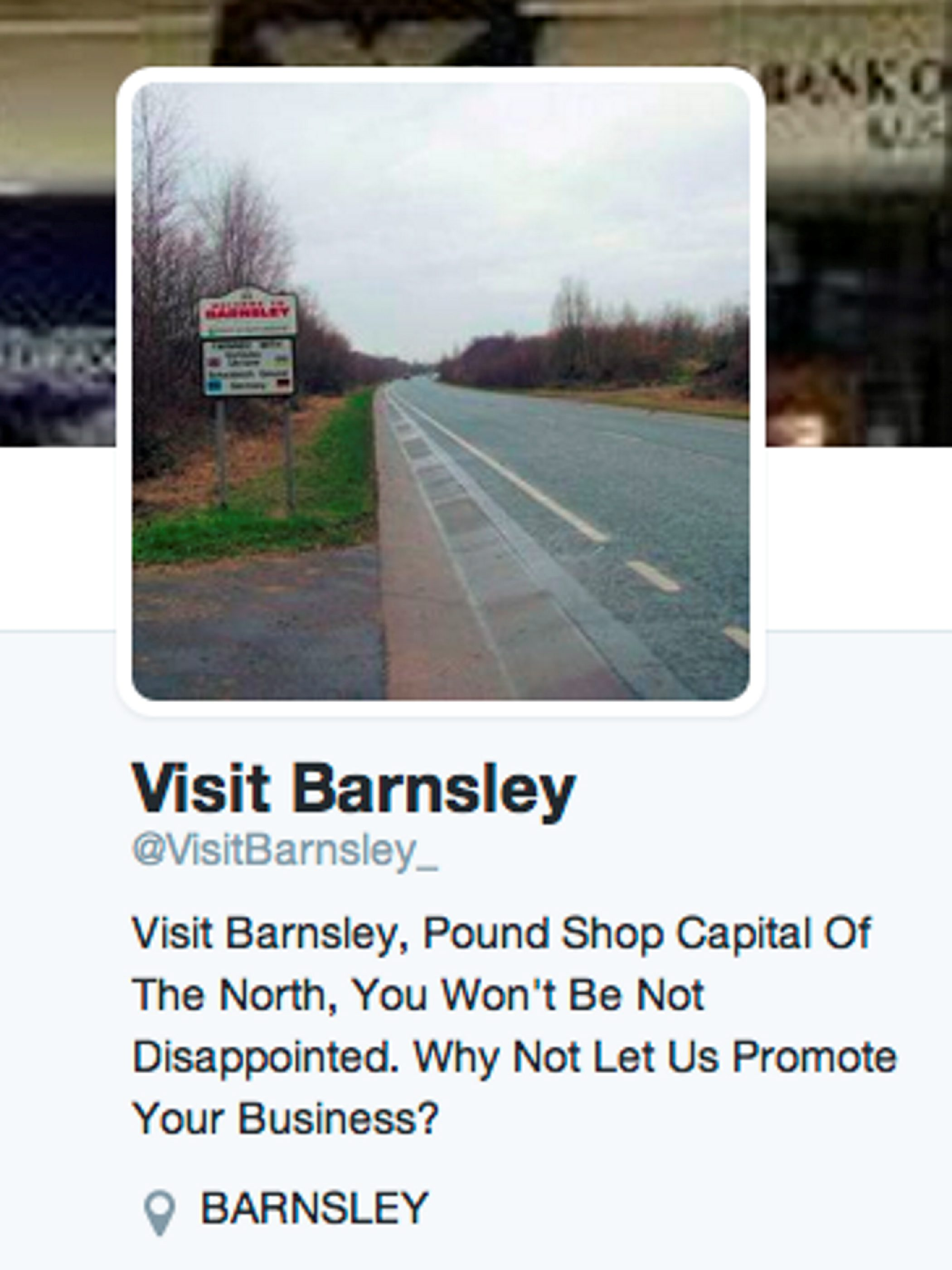 This spoof 'Visit Barnsley' Twitter account will make you giggle