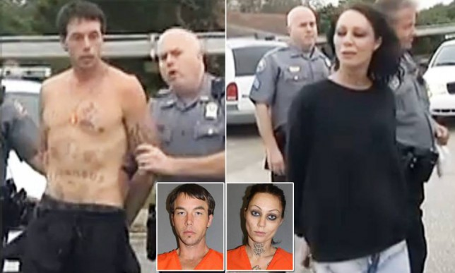 Florida couple arrested after found locked in college closet for two days Amber Campbell, 25, and John Arwood, 31, were reportedly pulled out of a Daytona State College closet where authorities reported smelling meth inside. They were arrested for trespassing.  A Florida couple has been arrested after they were reportedly found locked in a college campus' closet for two days - but deputies say they likely could have escaped at any time.  Amber Campbell, 25, and John Arwood, 31, were rescued Tuesday from inside Daytona State College, which is closed for the holidays, after Arwood eventually phoned 911 for help, WFTV reported.  Curiously, when the door was finally opened investigators reported smelling meth inside.  John Arwood, 31, was charged with trespassing. VOLUSIA COUNTY SHERIFF'S OFFICE John Arwood, 31, was charged with trespassing. They also described having no trouble getting into or out of the closet themselves.  Both were booked on charges of trespassing.  When asked what they were doing inside the closet, the couple reportedly told police that they were hiding after being chased on campus by unknown suspects.  Jailhouse records show that this was Campbell's second booking in Volusia County following charges in 2013 for aggravated battery of a law enforcement officer with a firearm, escape, resisting an officer with violence, and giving a false name upon being arrested.  It was Arwood's fourth time, however, following multiple arrests for driving with a suspended license among other charges.