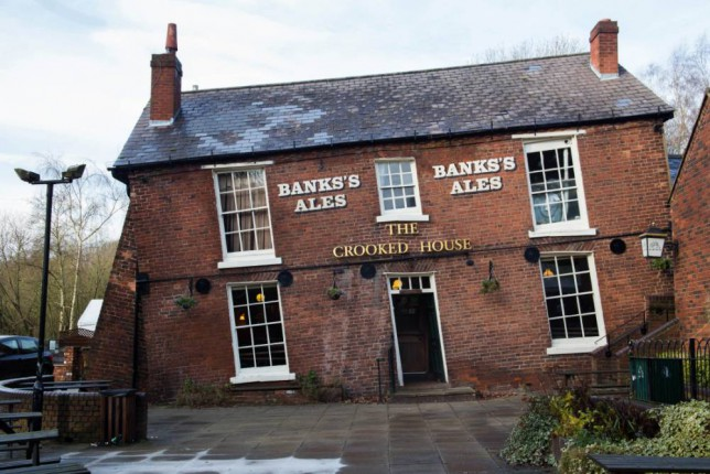 The Crooked House pub in Himley, Staffs, known as 'Britain's drunkest pub'