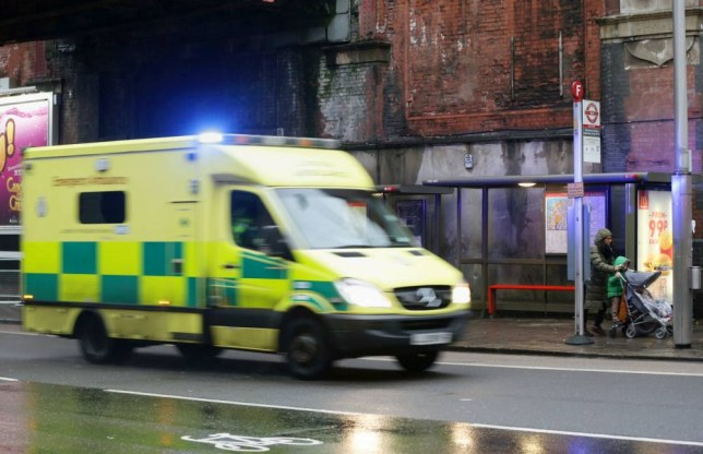 An ambulance drives past a bus stop outside Waterloo station in London, close to where a man was killed after an attack in the early hours of the morning. PRESS ASSOCIATION Photo. Picture date: Saturday January 3, 2015. Police were called to reports that a man had been attacked near London's Waterloo station at around 2.45am. Officers and London Ambulance Service found a man in his 40s with serious head injuries. He was pronounced dead at the scene. See PA story POLICE Waterloo. Photo credit should read: Yui Mok/PA Wire