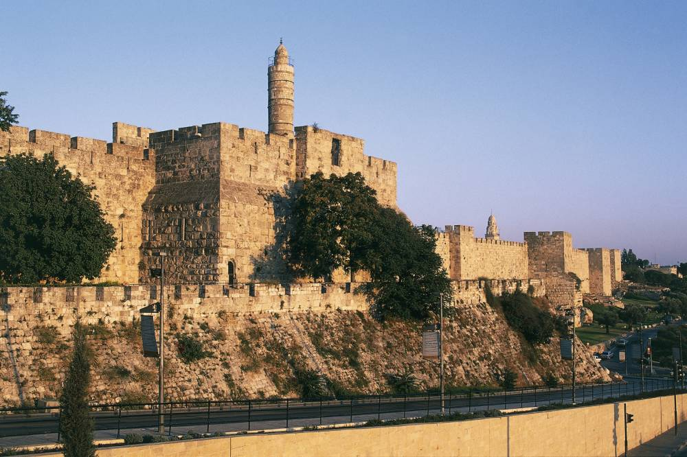 ISRAEL - APRIL 08: Citadel and Tower of David (founded in 2nd century BC), Old City of Jerusalem (UNESCO World Heritage List, 1981), Israel. (Photo by DeAgostini/Getty Images)