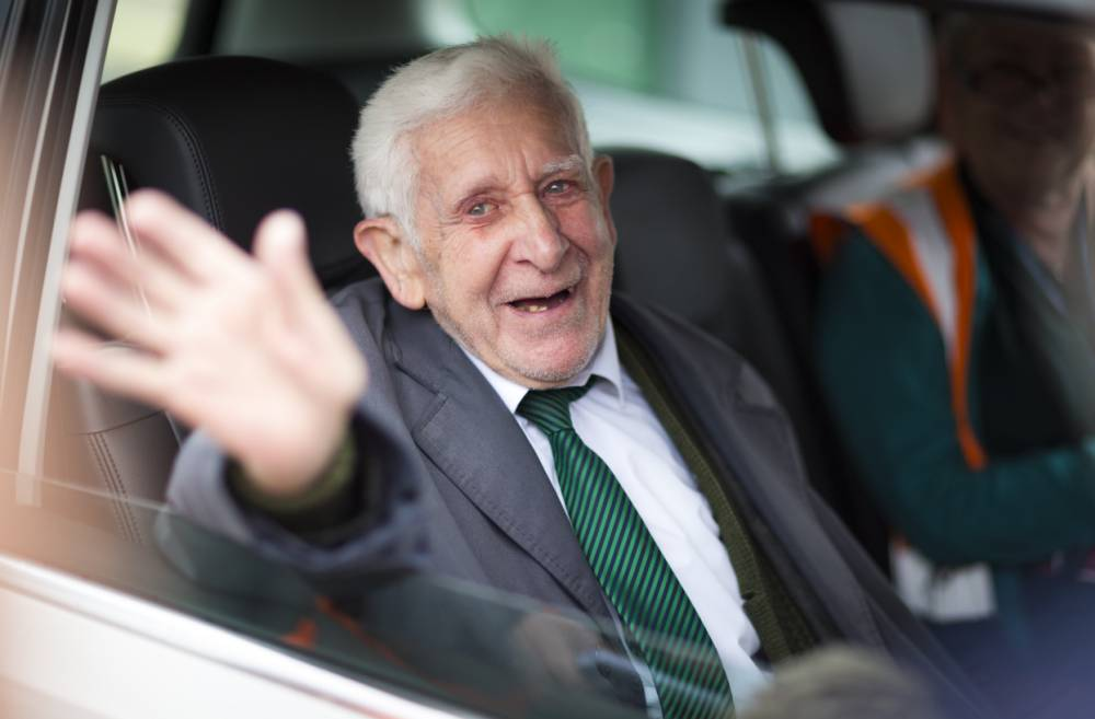 File photo dated 07/06/14 of Bernard Jordan, the war veteran found in Normandy after being reported missing from his care home in Hove, Sussex, who has died in hospital aged 90, the home has said. PRESS ASSOCIATION Photo. Issue date: Tuesday January 6, 2015. See PA story DEATH Jordan. Photo credit should read: Chris Ison/PA Wire