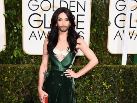Conchita Wurst looked pretty fierce on the Golden Globes red carpet