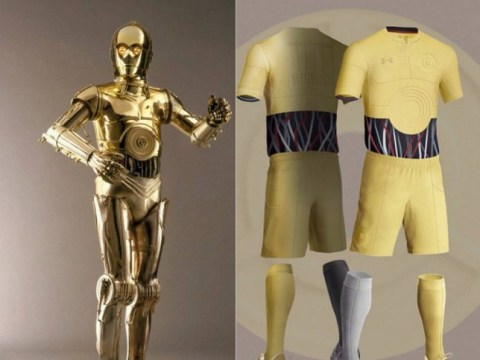 Designer creates R2-D2 and C-3PO Star Wars-themed football kits