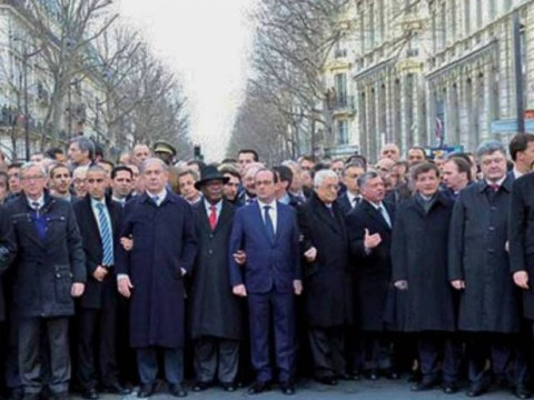 Female world leaders photoshopped out of Paris rally picture
