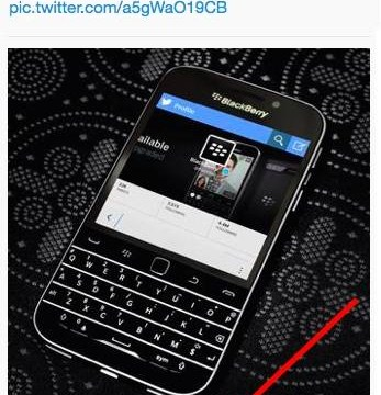 Blackberry caught out 'tweeting from iPhone'