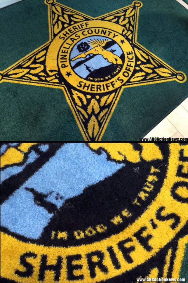 In dog we trust': This rug in Pinellas County Sheriff's