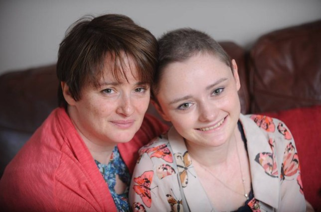 Emily Clark aged 16 from Llantarnum who has suffered from cancer which she survived against all the odds has set up a website from her bed in the Cardiff Teenage Cancer Unit where she encourages people to become bone marrow donersnPictured with her mother Donna Dunnn