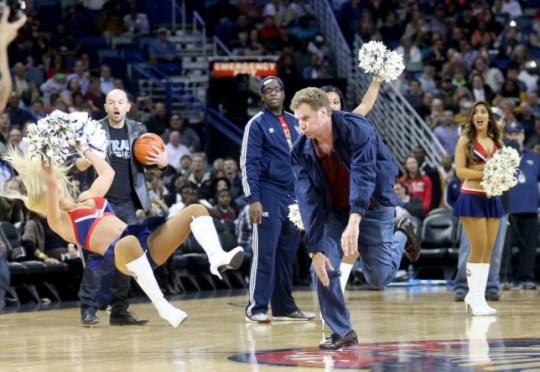 Will Ferrell hits cheerleader with a basketball filming Daddy's Home