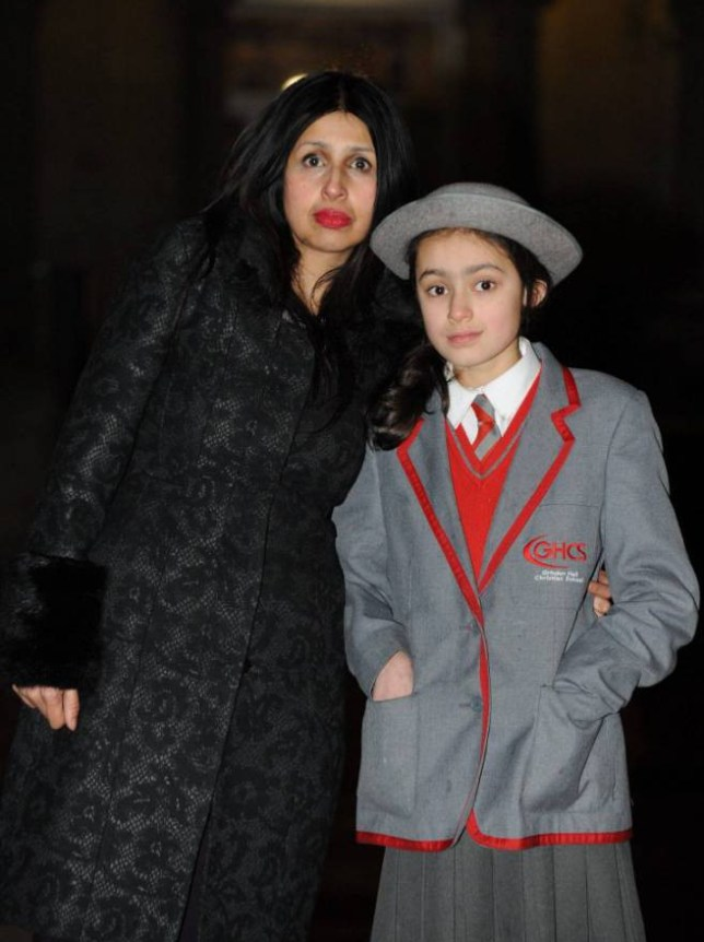 Dated: 22/01/2015 Lena  Wilkinson and her daughter Ariella (10) who all attends Grindon Hall Christian School.   FAO: Janet Tomlinson - Daily Mail pictures