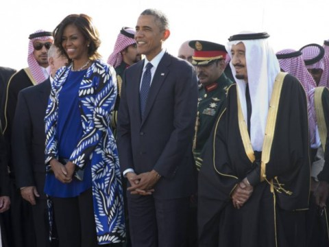 Michelle Obama rejects Saudi custom by showing her hair at King Abdullah's funeral