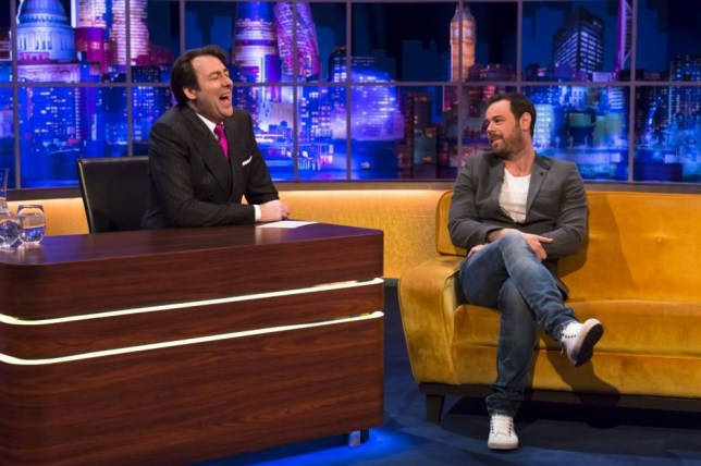 EDITORIAL USE ONLY / NO MERCHANDISING  Mandatory Credit: Photo by Brian J Ritchie/REX (4388421bg)  Jonathan Ross and Danny Dyer  'The Jonathan Ross Show' TV Programme, London, Britain. - 31 Jan 2015