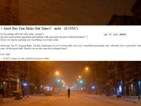 New Yorkers are desperately seeking blizzard boyfriends and girlfriends to get snowed in with
