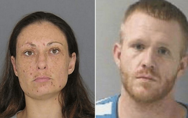 Timothy King and Tehani Teepe could face up to five years in prison if found guilty of smuggling contraband into a prison (Picture: Hamilton County Police)