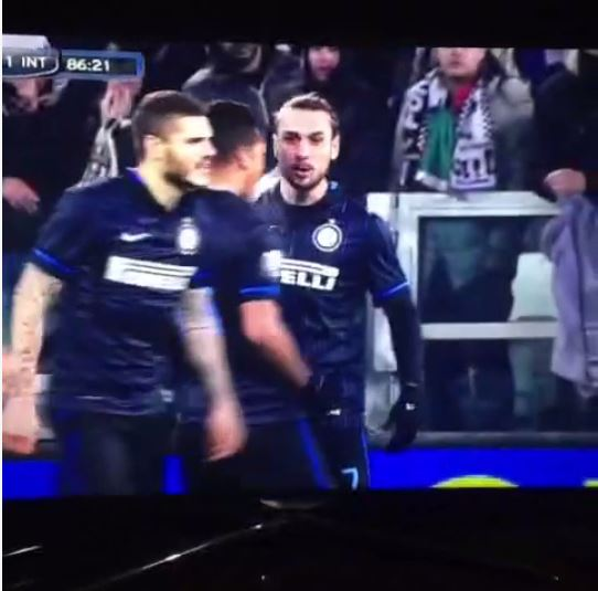 It's safe to say Dani Osvaldo wasn't happy with Mauro Icardi