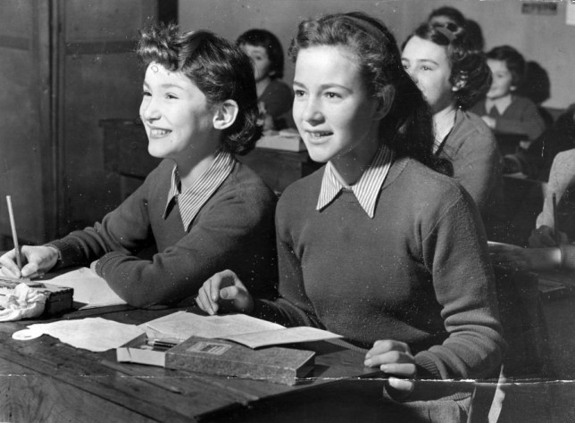 Girls being taught separately in the 50s (Picture