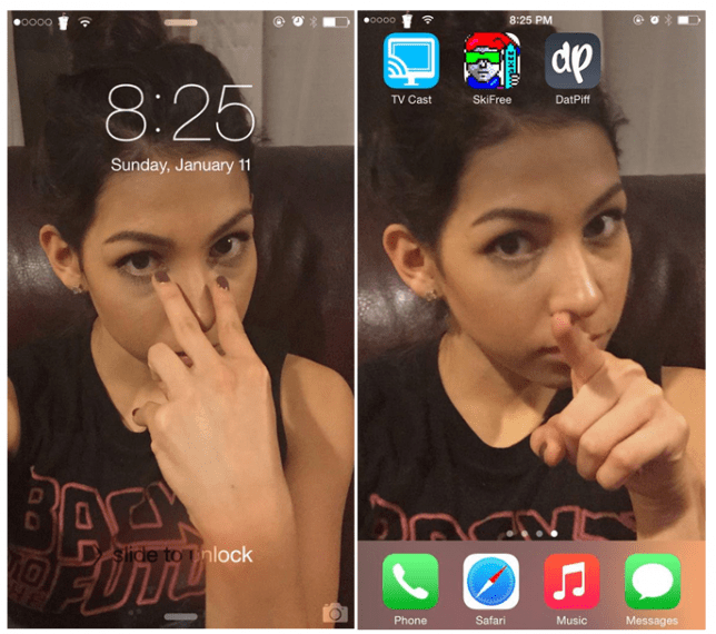 Girlfriend leaves screensaver of herself on boyfriend's