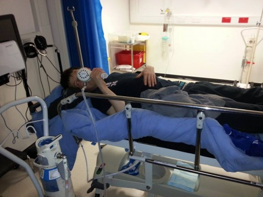 Hari received treatment at Addenbrooke's Hospital (Picture: Facebook)