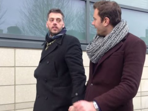 Male radio presenters walk down Luton street holding hands in video experiment