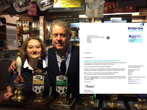 Prince of Wales pub in Essex gets gas bill addressed to HRH Prince Charles