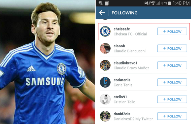 Chelsea Transfer News Lionel Messi Follows Chelsea On Instagram Amid Talk Of Transfer From Barcelona Metro News